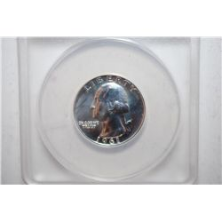 1961 Washington Quarter Proof; ANACS Graded PF67; EST. $10-15