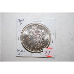 1904-O Silver Morgan $1; Choice BU; EST. $45-60