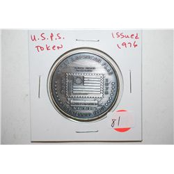 1976 U.S.P.S. Bicentennial Issue First American Flag Proudly It Waves Token; EST. $3-5
