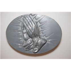 Praying Hands Belt Buckle; EST. $10-25