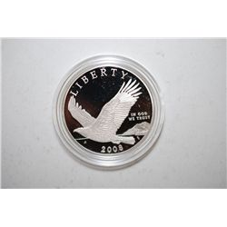 2008-P US Bald Eagle Commemorative Silver $1 Proof In Velvet Box With COA Included; EST. $40-50