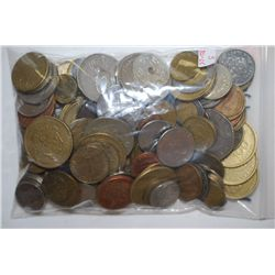 World Coins & Tokens; Various Dates, Denominations & Conditions; 1 1/2 Pounds By Weight; EST. $10-25