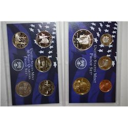 2001-S US Mint Proof Set & State Quarter Mint Proof Set With COA Included; EST. $10-15