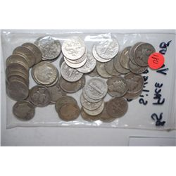 Roosevelt & Mercury Dime; Various Dates, Conditions & Denominations; Lot of 50; EST. $125-150