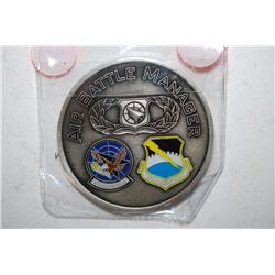 Air Battle Manager 825th SQ, 325th Fighter Wing Challenge Coin; EST. $10-20