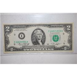 1976 US Federal Reserve Note $2; Minneapolis MN Reserve; EST. $3-5