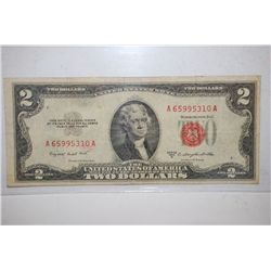 1953-B United States Note $2; Red Seal; EST. $3-5