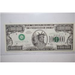 2001 United States Of America $1,000,000 FAKE Bill; EST. $3-5