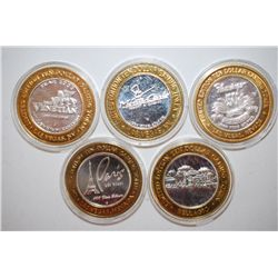 "Bellagio Las Vegas NV Limited Edition Two-Tone $10 Gaming Token; .999 F.S., Flamingo Hilton ""Bugsy S"