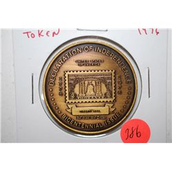 1976 U.S.P.S. Bicentennial Issue Declaration Of Independence Liberty Bell Token; EST. $3-5
