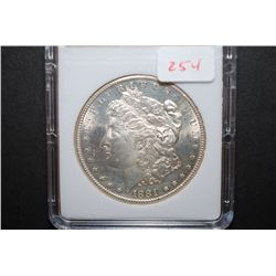 1881-S US Silver Morgan $1; MCPCG Graded MS62; EST. $60-80
