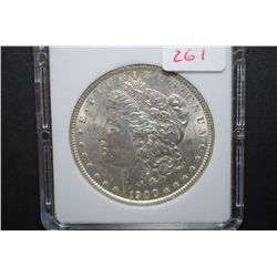 1900 US Silver Morgan $1; MCPCG Graded MS61; EST. $60-80