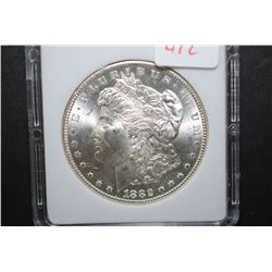 1882-CC US Silver Morgan $1; MCPCG Graded MS63; EST. $200-250