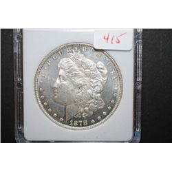 1878 US Silver Morgan $1 With 8 Tailfeathers; MCPCG Graded MS63 PL; EST. $215-400