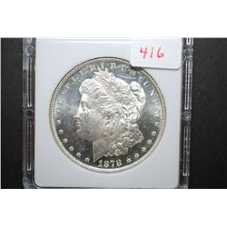 1878 US Silver Morgan $1 With 8 Tailfeathers; MCPCG Graded MS64 PL; EST. $435-1000