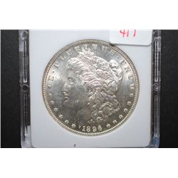 1896 US Silver Morgan $1; MCPCG Graded MS64; EST. $65-90