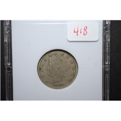 1885 Liberty V-Nickel; MCPCG Graded F12; EST. $800-950