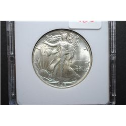 1945 Walking Liberty Half Dollar; MCPCG Graded MS63; EST. $50-75