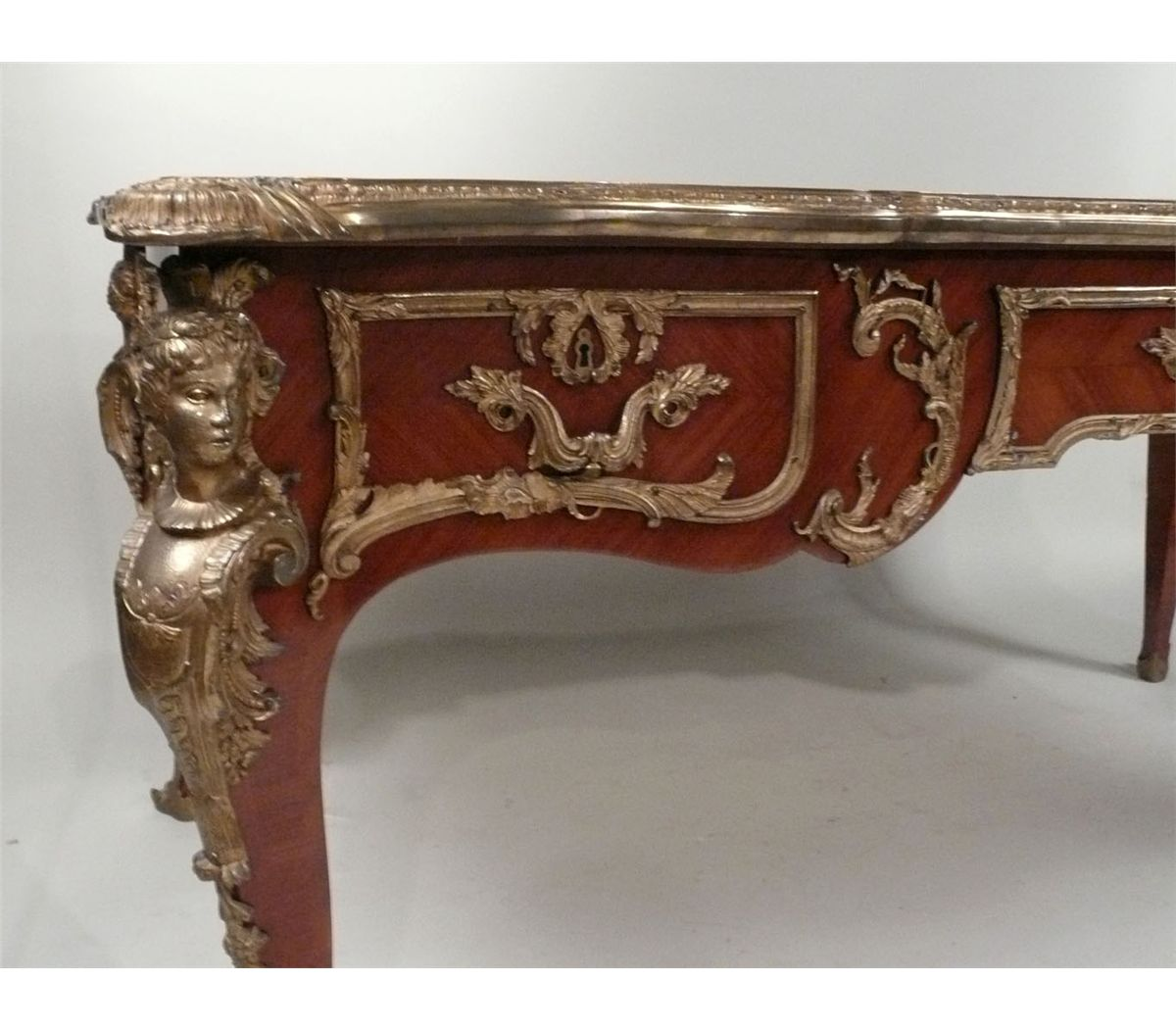 louis xv style gilt bronze mounted mahogany bureau plat 20th c n9enae. Black Bedroom Furniture Sets. Home Design Ideas