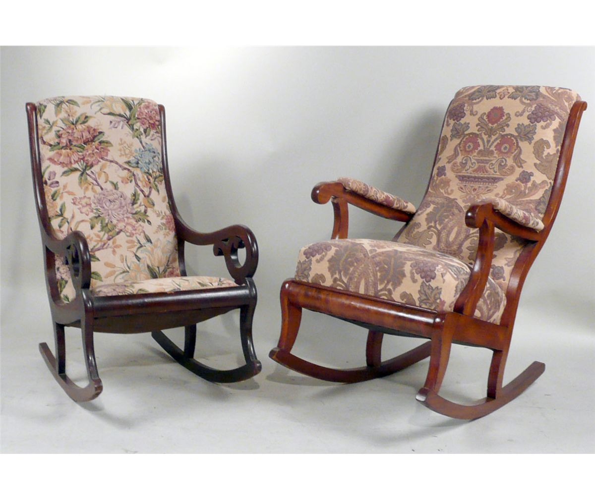 Victorian rocking chair - Two Victorian Mahogany Rocking Chairs American Late 19th C N9enbh Loading Zoom