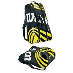 Wilson BLX Tour Super Six Tennis Bag (Black/Yellow)