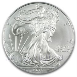 Uncirculated Silver Eagle 2012