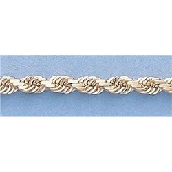 """Pure Gold 16"""" 14k Gold-Yellow 3.0mm DC Rope Chain"""