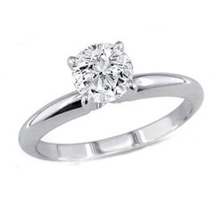 0.25 ct Round cut Diamond Solitaire Ring, G-H, VS