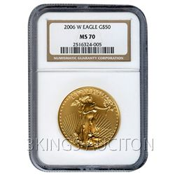 Certified $50 American Gold Eagle 2006-W MS70 NGC