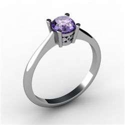 Tanzanite 0.56 ctw Ring14kt White Gold