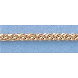 "Pure Gold 16"" 14k Gold-Yellow 1.5mm Wheat Chain 4.6g"