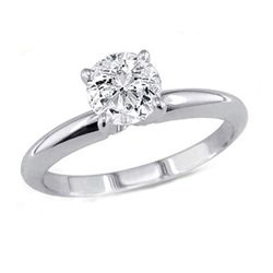 0.35 ct Round cut Diamond Solitaire Ring, G-H, SI2