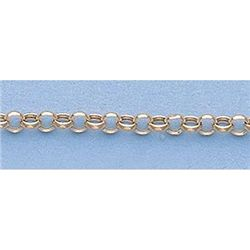 "Pure Gold 16"" 14k Gold-Yellow 2.3mm Hallow Rolo Chain"