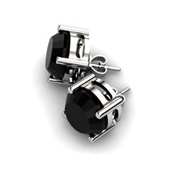 Black Diamond 8.00ctw Earring 14kt White Gold
