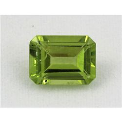 12.92ctw Emerald Cut Peridot Natural Gemstone, 8x6mm