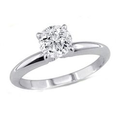 1.25 ct Round cut Diamond Solitaire Ring, I-J, SI2