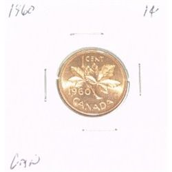 1960 CANADIAN 1 CENT PENNY *RARE PROOF HIGH GRADE*!!