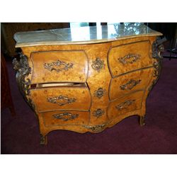 VINTAGE ANTIQUE REPRODUCTION FRENCH BOMBAY CHEST WITH ORIGINAL HARDWARE