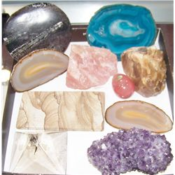 Ten Assorted Rocks and Minerals
