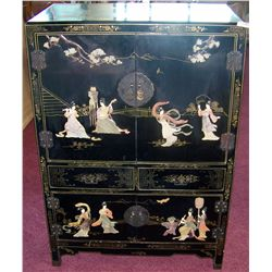 Asian Style Inlayed Cabinet.