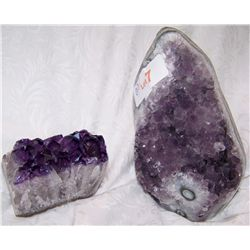 TWO PIECE AMETHYST LOT