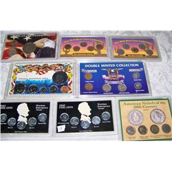 (8X$) U.S. COIN COLLECTIONS INCLUDING SILVER & WAR COINS