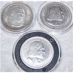 (3X$) U.S SILVER COMMEMORATIVE HALF DOLLARS 1893, 1950