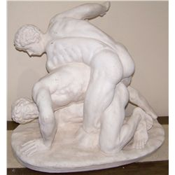 "Cast Roman Statue ""The Wrestlers"""