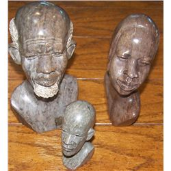 Three African Stone Carvings