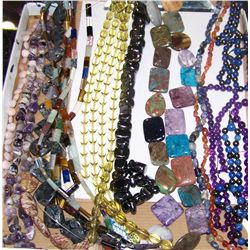 Assorted Tumbled Stone Jewelry as Shown