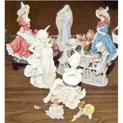 Eight Collectible Figurines