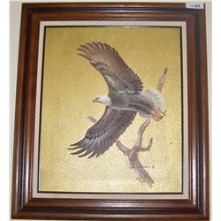 Eagle in Flight Artwork Signed Stepano P.