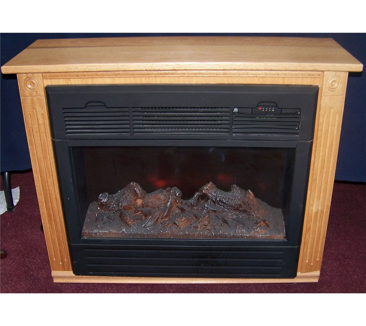 heat surge electric fireplace model adl 2000m x in amish cabinet