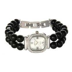 Badavici Black Agate Bracelet Watch